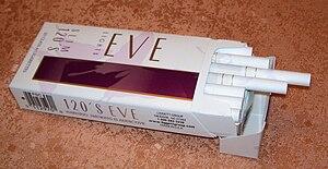 Eve (cigarette) - Image: Evelt 120pack