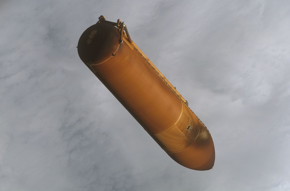space shuttle external tank -#main