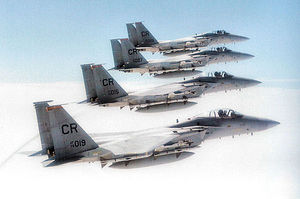 32nd Air Expeditionary Group - McDonnell Douglas F-15C Eagles of the 32d Tactical Fighter Group