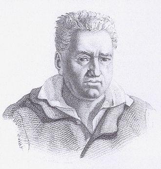 Bow maker - engraving of François Xavier Tourte 1818