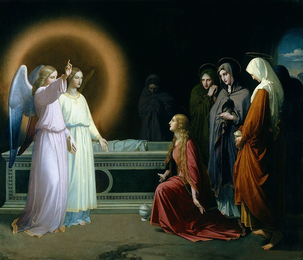 F. de Madrazo - 1841, Las Tres Marías en el Sepulcro (Iglesia de San Pascual, Aranjuez. 204 x 238 cm).jpg