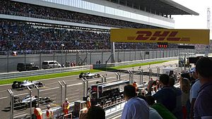 Sochi Autodrom - The start of the 2014 Russian Grand Prix