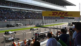 Russian Grand Prix - The starting grid at the 2014 Russian Grand Prix.