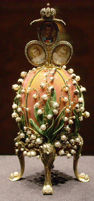 Lilies of the Valley (Fabergé egg) - Image: Fabergé egg Rome 03