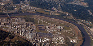 General Motors Fairfax Assembly Plant - The plant from the south. The runway of the old airport is on all sides