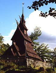 Fantoft stave church, Bergen.jpg