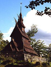 Fantoft stave church, Bergen.jpg