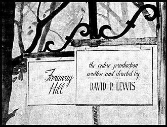 Faraway Hill - Title card