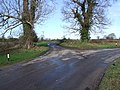 Farm Lane Junction on Bend, Wreningham - geograph.org.uk - 349645.jpg