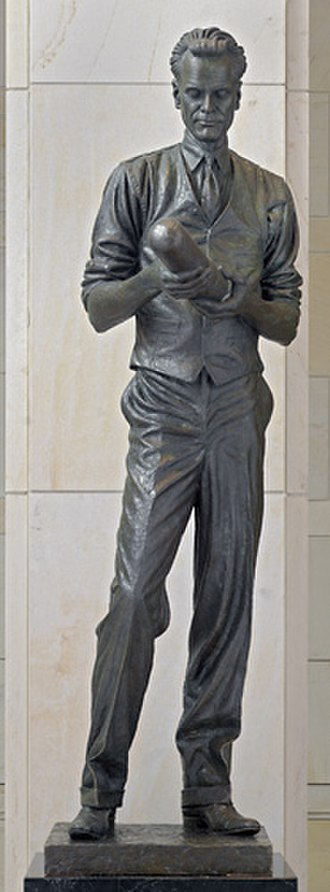 Philo Farnsworth - Philo T. Farnsworth in the National Statuary Hall Collection, U.S. Capitol, Washington, D.C.