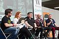Fear Factor Panel with Dawn Kurtagich, Derek Landy, Darren Shan and Alex Scarrow (28696108526).jpg