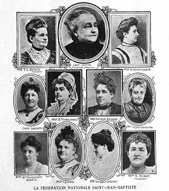 Alexandre Lacoste - Lady Lacoste was member of the First presidential board, Fédération nationale Saint-Jean-Baptiste, Montréal, 1907