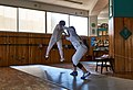 Fencing. Fencing in Greece. Fencing at Athenaikos Fencing Club with fencers from other clubs.jpg