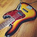 Fender Jazz Bass - Cramming tonight for an audition tomorrow with my old reliable #jbass (2014-05-20 by irish10567).jpg