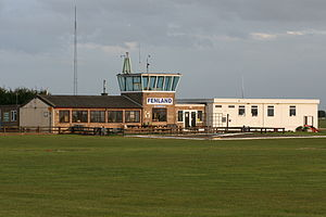 Fenland Airfield - Fenland Airfield control tower and clubhouse