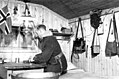 Fenrik Flønes i sitt kontor ved Skafferhullet - Ensign Flønes in his Office at Skafferhullet (1940) (4733100667).jpg