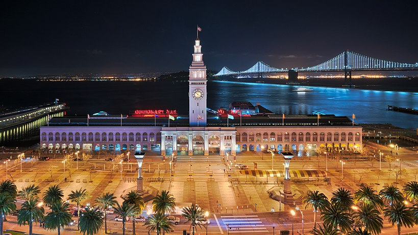 San Francisco Ferry Building at night Ferry Building at night.jpg