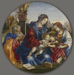 Filippino Lippi - The Holy Family with Saint John the Baptist and Saint Margaret - 1932.227 - Cleveland Museum of Art.tif