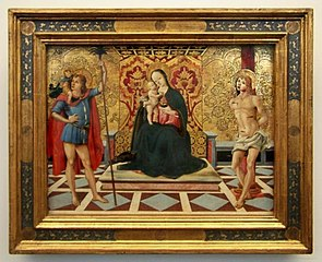 Virgin and Child Enthroned with Saints Christopher and Sebastian