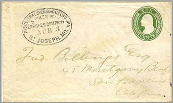writing cover letters pony express 1860