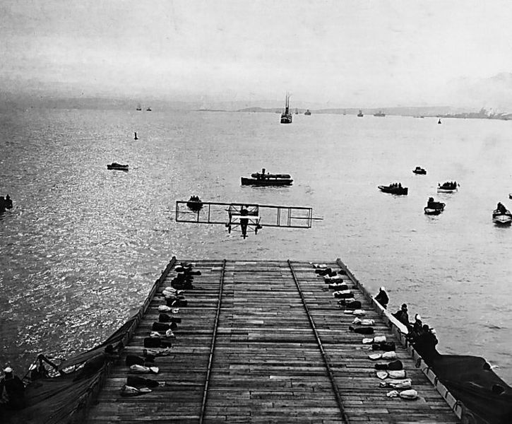 File:First airplane landing on a warship.jpg