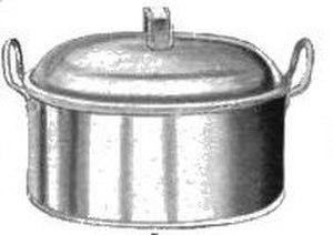 Fish kettle - A fish kettle, circa 1907.