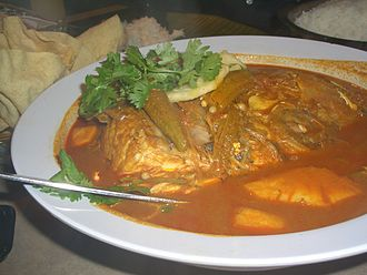 Malaysian Indian cuisine - Fish head curry