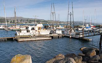 California Historical Landmarks in Sonoma County, California - Image: Fisherboats at Bodega Harbor