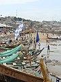 Fishing boats on Ghana beach (5927500786).jpg