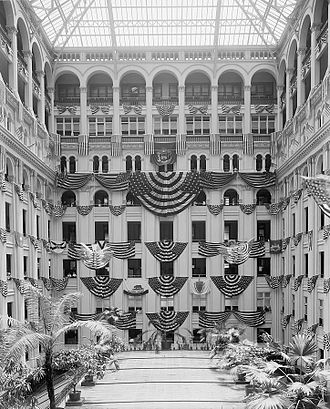 Old Post Office (Washington, D.C.) - Atrium of the old 1899 General Post Office Building in June 1914