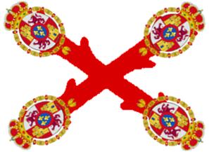 Flag cross burgundy lessercoat