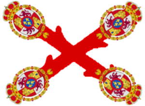 Spanish expeditionary army (Spanish American independence) order of battle - Image: Flag cross burgundy lessercoat