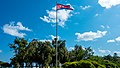 Flag in front of the Beach Hotel (21535727398).jpg