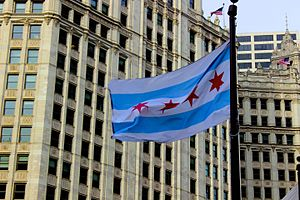 Flag of Chicago - Flag of Chicago