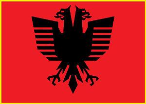 English: New Design of Albanian National Flag