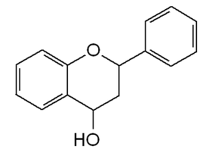 English: Chemical structure of Flavan-4-ol