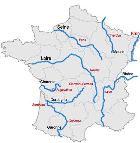 Важнейшие реки Франции