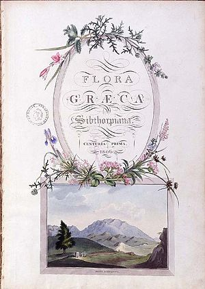 Flora Graeca - Cover to the first edition