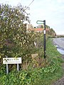 Footpath Sign at Graveney - geograph.org.uk - 1033208.jpg