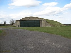 Former hangar at RAF Hullavington