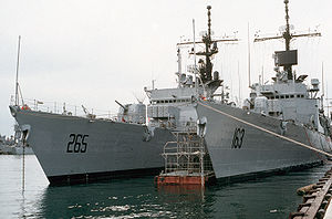 USS O'Callahan (FF-1051) - Former Brooke (right) and O'Callahan (left) during service with Pakistan.