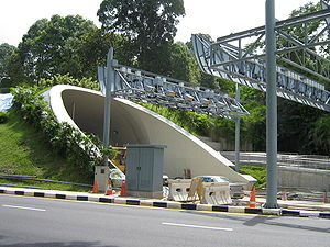 Fort Canning Tunnel - Fort Canning Tunnel close to completion in November 2006