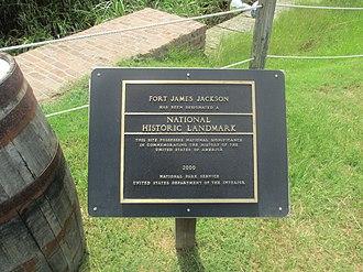 Fort James Jackson - Fort James Jackson is a National Historic Landmark.
