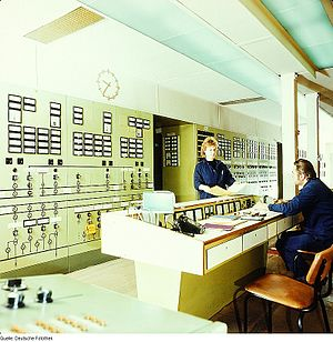 Production control - Powerplant control room, 1983
