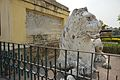 Foundation Stone With Seated Lion Statue - Hazarduari Palace - Nizamat Fort Campus - Murshidabad 2017-03-28 6364.JPG