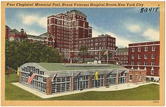 James J. Peters VA Medical Center - The original buildings of the Bronx Veterans Hospital centered on the Four Chaplains' Memorial Pool