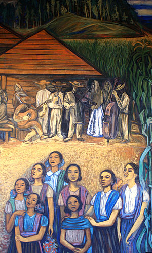 Alfredo Zalce - Mural by Alfredo Zalce at the state government palace in Morelia.