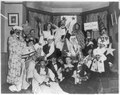 Frances Benjamin Johnston, with friends at costume party, bottom center LCCN2006688465.tif