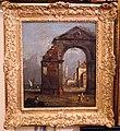 Francesco guardi (attr.), capriccio con un arco di trionfo in rovina, 1750-90 ca..JPG