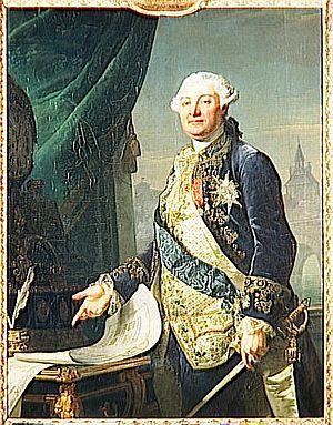 François-Guillaume Ménageot - A rare portrait by Ménageot, of Louis Auguste Le Tonnelier de Breteuil (1730–1807)